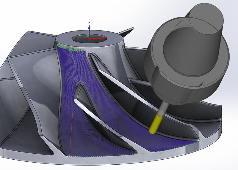 SolidCAM 5-ти координатная обработка 4